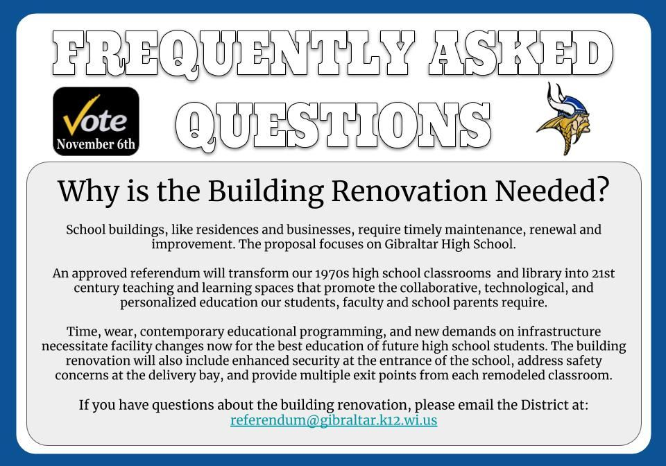 Why is the building renovation needed?