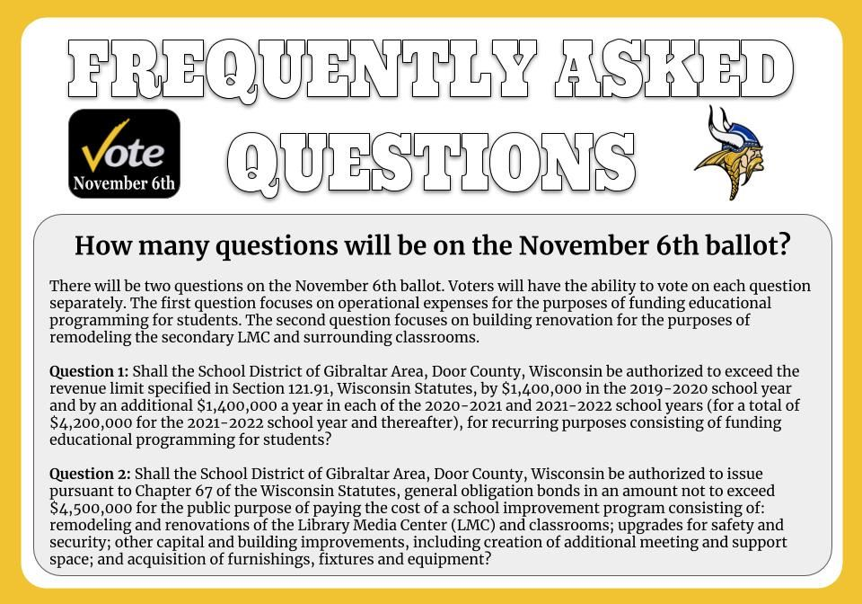 How many questions will be on the ballot?